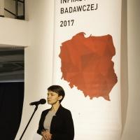 Pani Katarzyna Kaczkowska - zastępca dyrektora Departamentu Programów Wsparcia Innowacji i Rozwoju z Ministerstwa Rozwoju mowiła o konkursie nr 2 działani 4.2 POIR
