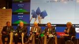Powiększ zdjęcie: Na zdjęciu widać panelistów debaty