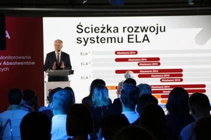 Konferencja inaugurująca trzecią odsłonę portalu ELA - na zdjęciu minister Jarosław Gowin