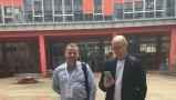 Powiększ zdjęcie: Jarosław Protasiewicz, PhD and Marek Michajłowicz from the Laboratory of Intelligent Information Systems - main creators of the POL-onu system